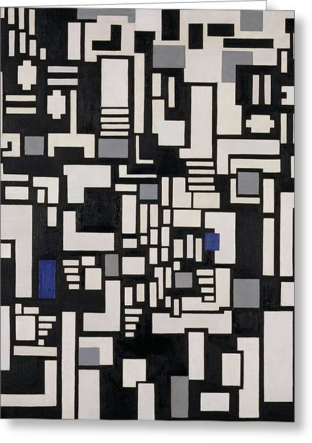 Block Print Paintings Greeting Cards - Composition IX Greeting Card by Theo Van Doesburg