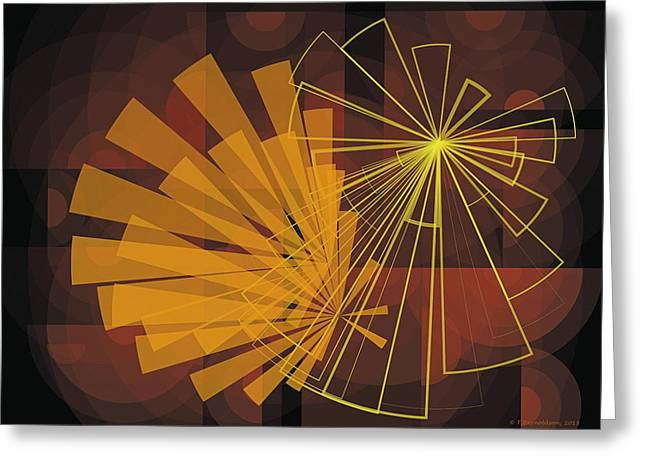 Abstract Art Greeting Cards - Composition16 Greeting Card by Terry Reynoldson