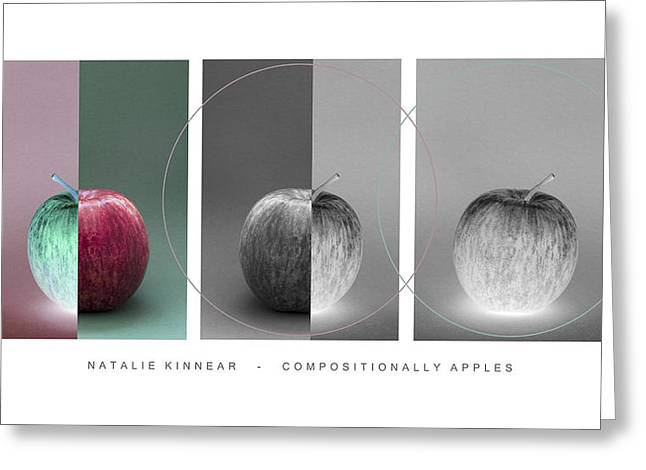 Compositionally Apples Greeting Card by Natalie Kinnear