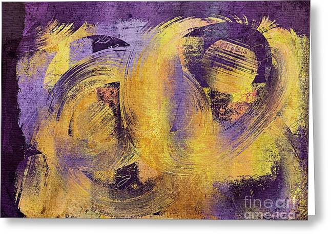 Abstract Movement Greeting Cards - Composix - 0241b Greeting Card by Variance Collections