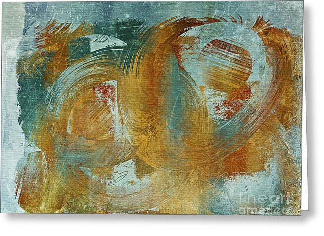 """textured Art"" Greeting Cards - Composix 02a - v1t27b Greeting Card by Variance Collections"
