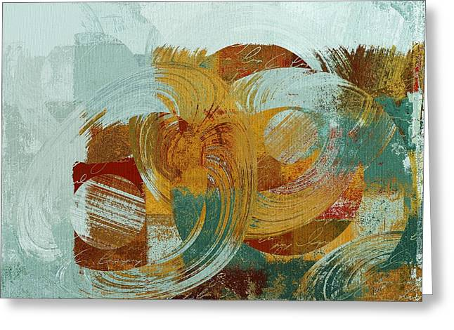 Art Decor Greeting Cards - Composix - 100x03a Greeting Card by Variance Collections