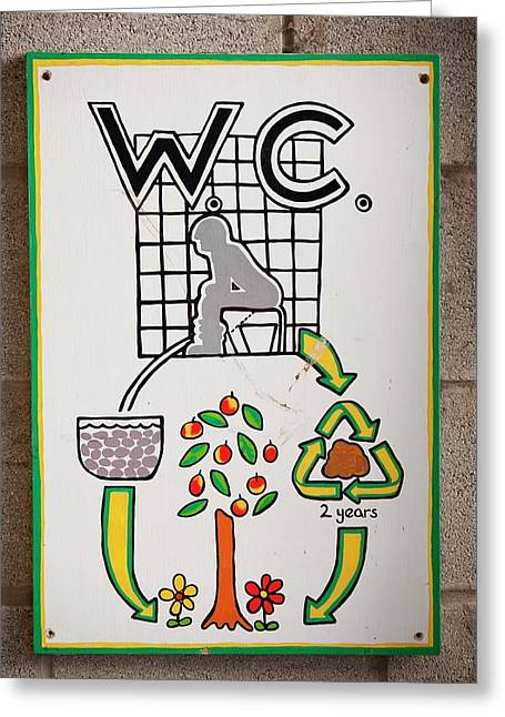 Composting Toilet Greeting Card by Ashley Cooper
