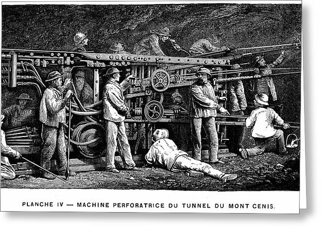 Compressed Air Rock Drill Greeting Card by Universal History Archive/uig