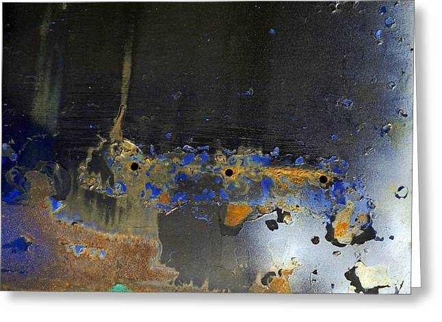 Industrial Background Greeting Cards - Compromised Surface Greeting Card by Lynda Lehmann