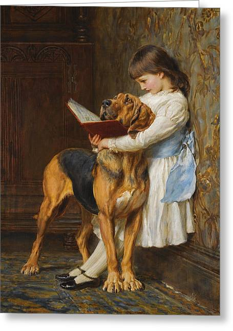 Riviere Greeting Cards - Compulsory Education Greeting Card by Briton Riviere