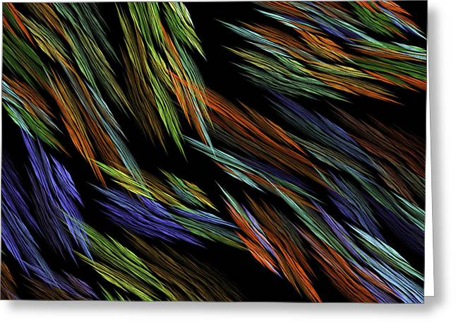 Computer Generated Abstract Greeting Cards - Computer Generated Art Fractal Flame Abstract Digital Image  Greeting Card by Keith Webber Jr