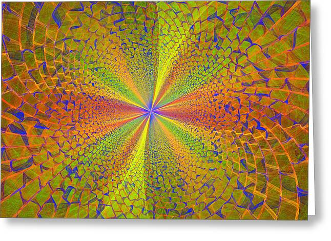 Energy Vortex Greeting Cards - Computer Generated Fractal Art Greeting Card by Keith Webber Jr