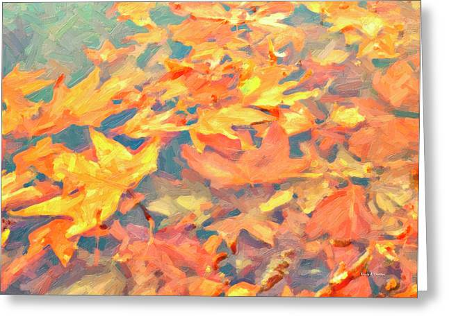 Computer Generated Image Of Autumn Greeting Card by Angela A Stanton
