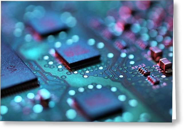 Computer Hardware Greeting Card by Tek Image