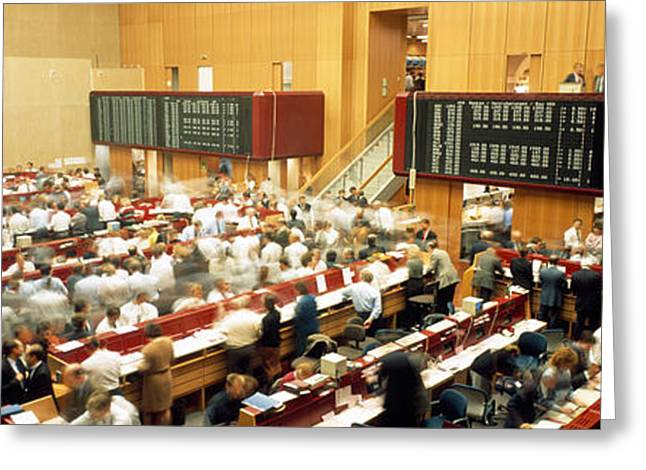 Visual Images Greeting Cards - Computerized Trading Floor Greeting Card by Panoramic Images