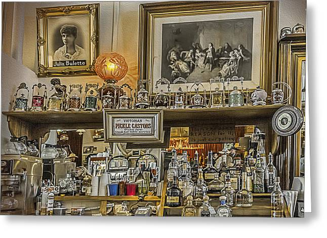 Saloons Greeting Cards - Comstock Saloon Greeting Card by Maria Coulson