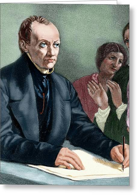 Comte, Auguste (montpellier Greeting Card by Prisma Archivo