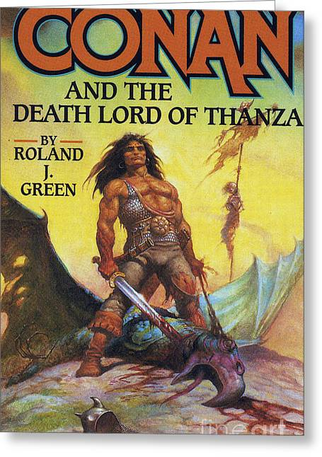 80s Drawings Greeting Cards - Conan And The Death Lord Of Thanza 1997 Greeting Card by The Advertising Archives