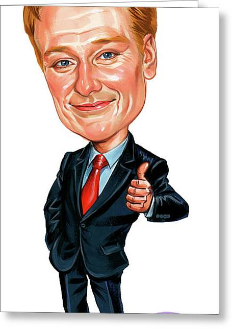 Humour Greeting Cards - Conan OBrien Greeting Card by Art