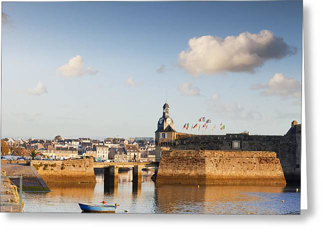 Town Walls Greeting Cards - Concarneau Brittany France Greeting Card by Colin and Linda McKie
