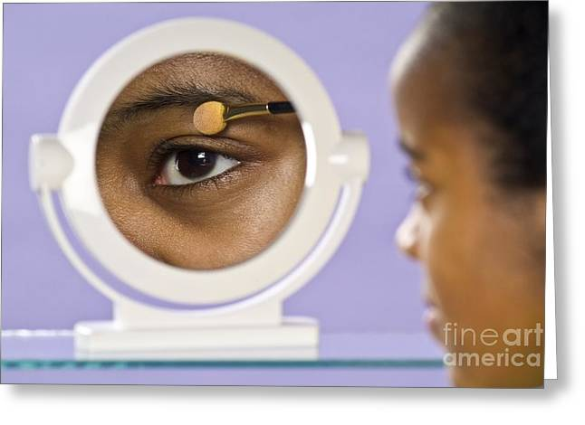 Light Magnifications Greeting Cards - Concave Make-up Mirror Greeting Card by Martyn F. Chillmaid