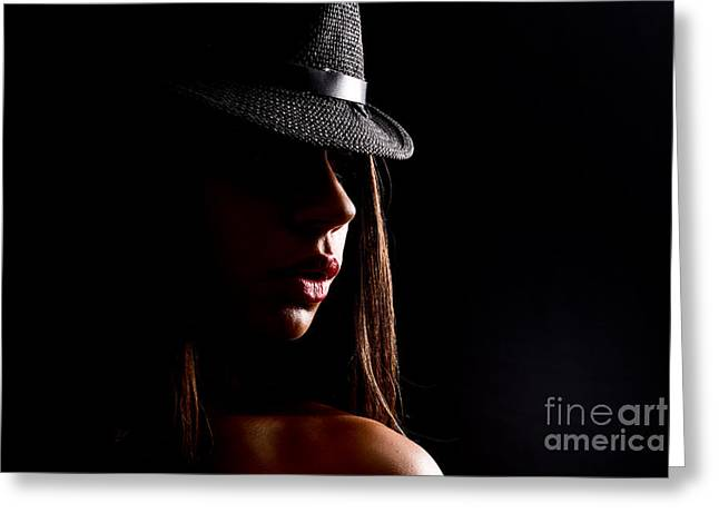 Thin Greeting Cards - Concealed Lips Greeting Card by Jt PhotoDesign