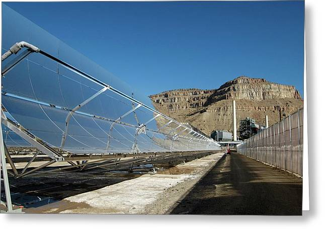 Concentrating Solar Power Plant Greeting Card by Us Department Of Energy