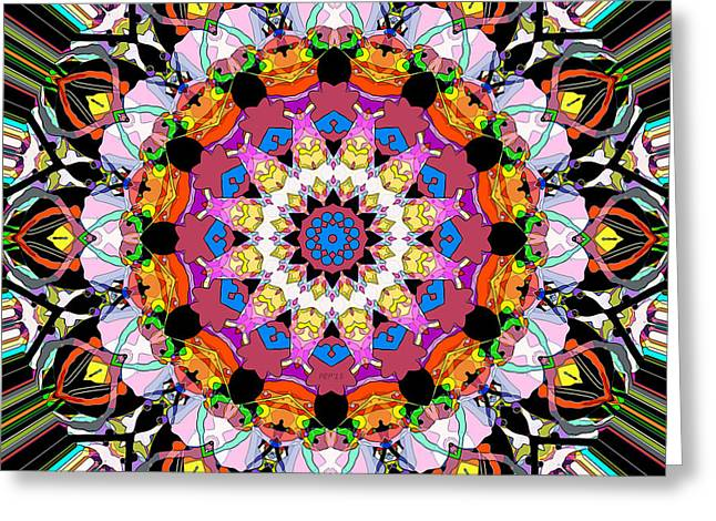 Geometric Design Greeting Cards - Concentricity 2 Greeting Card by Phil Perkins