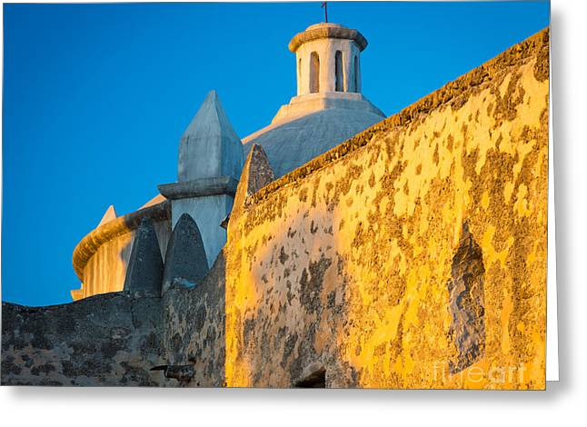 Western Culture Greeting Cards - Concepcion Walls Greeting Card by Inge Johnsson