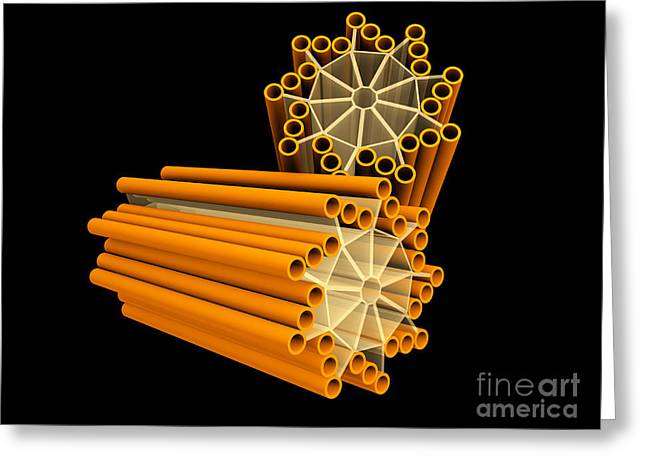 Duplication Greeting Cards - Conceptual Image Of Centriole Greeting Card by Stocktrek Images