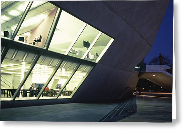 Arts Culture And Entertainment Greeting Cards - Concert Hall Lit Up At Night, Casa Da Greeting Card by Panoramic Images