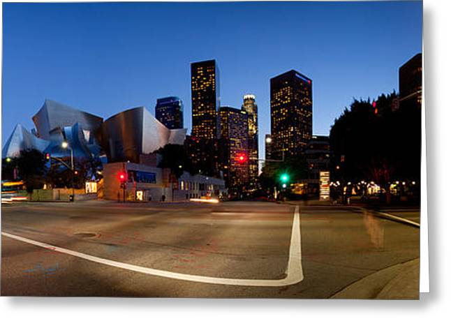 Concert Images Greeting Cards - Concert Hall Lit Up At Night, Walt Greeting Card by Panoramic Images