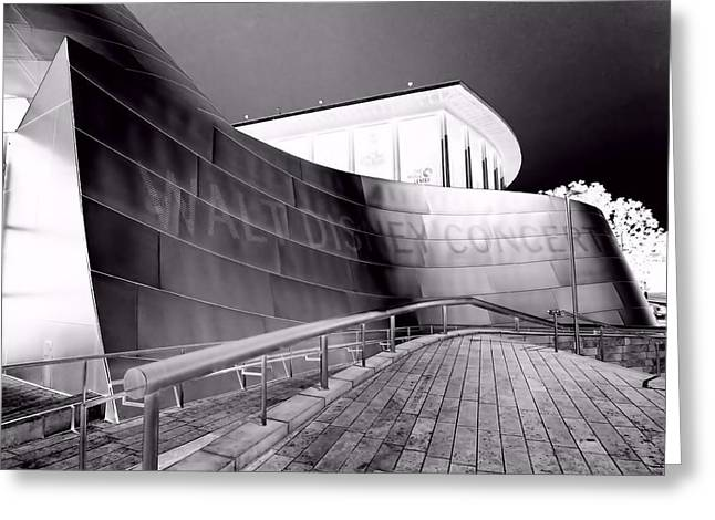 Stainless Steel Greeting Cards - Concert Hall Solarized Series 2 Greeting Card by Jenny Hudson