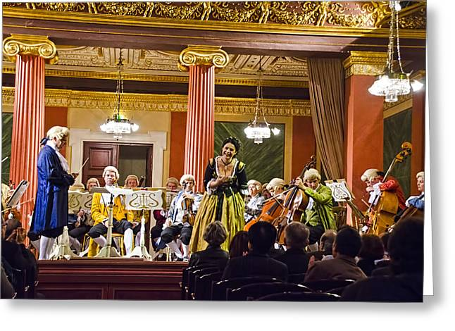 Symphony Hall Greeting Cards - Concert In Vienna Greeting Card by Jon Berghoff
