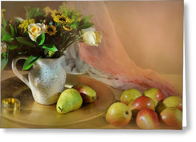 Fruit And Flowers Greeting Cards - Concerto Greeting Card by Diana Angstadt
