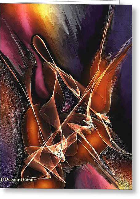 Abstract Digital Paintings Greeting Cards - Concerto Greeting Card by Francoise Dugourd-Caput