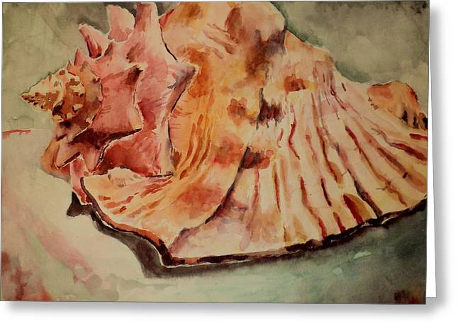 Galveston Paintings Greeting Cards - Conch Contours Greeting Card by Jeffrey S Perrine