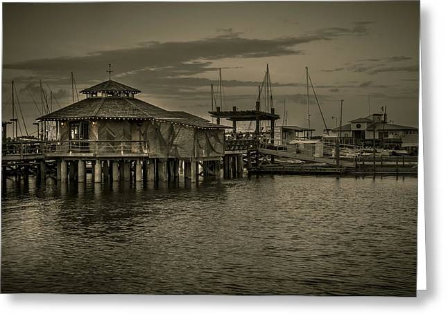 Conch House Marina Greeting Card by Mario Celzner