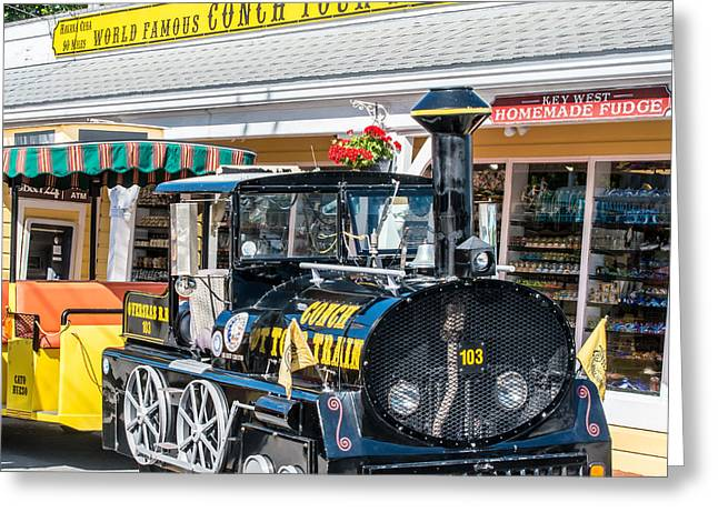 Liberal Greeting Cards - Conch Tour Train 2 Key West - Square Greeting Card by Ian Monk