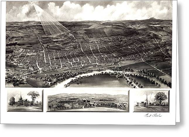 Concord. Historic Greeting Cards - Concord - New Hampshire - 1899 Greeting Card by Pablo Romero