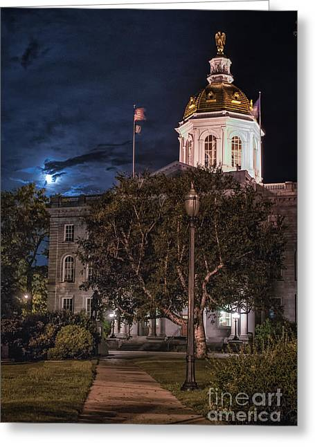 Recently Sold -  - Concord Greeting Cards - Concord by Moonlight Greeting Card by Scott Thorp