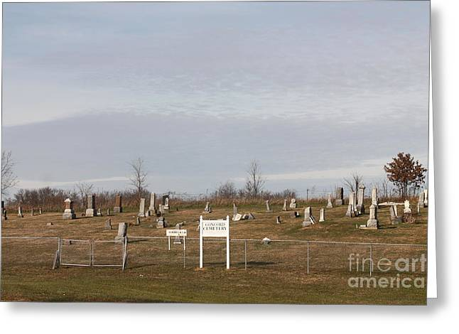 Concord Greeting Cards - Concord Cemetery Greeting Card by  Kathy Cornett
