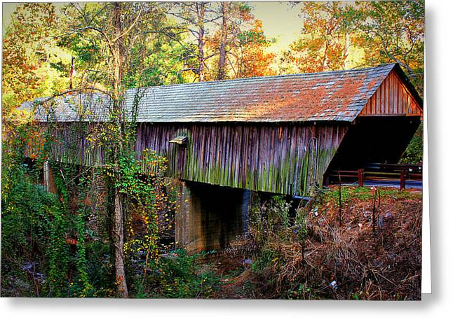 Covered Bridge Greeting Cards - Concord Covered Bridge 2 Greeting Card by Reid Callaway