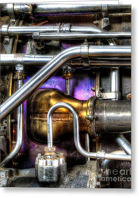 Concord Greeting Cards - Concord Engine HDR Greeting Card by SteveHPhotos