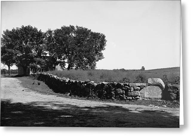 Battlefield Site Greeting Cards - Concord: Meriams Corner Greeting Card by Granger