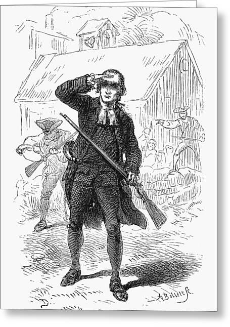 Concord Greeting Cards - Concord: Minuteman, 1775 Greeting Card by Granger