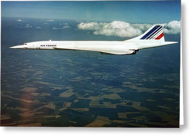 Concorde In Flight Greeting Card by Us National Archives