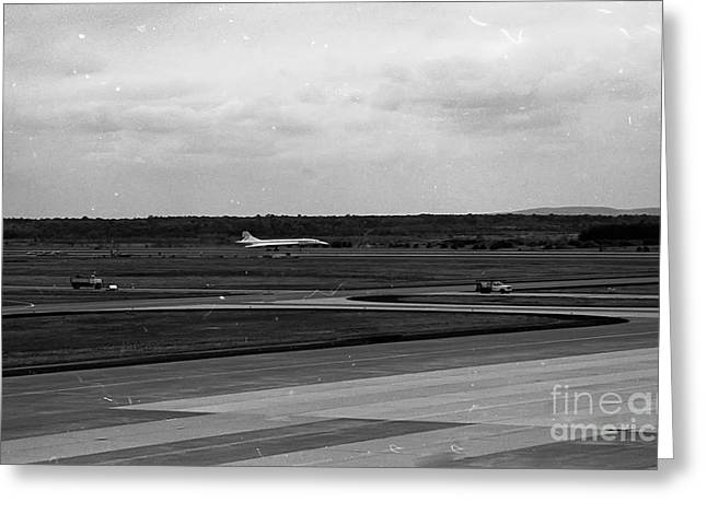 Concorde Greeting Cards - Concorde Landing Greeting Card by Thomas Marchessault