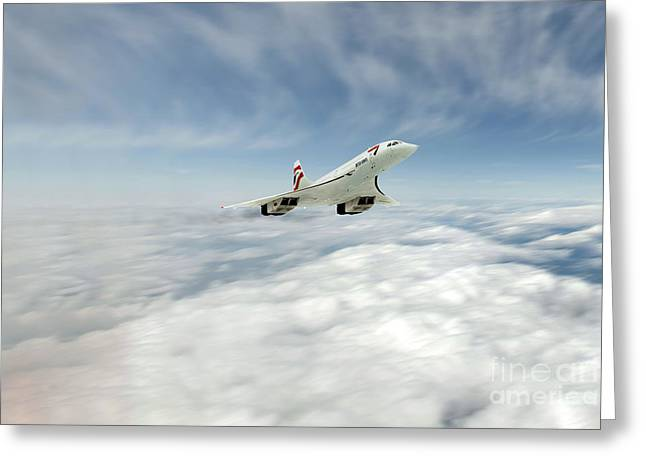 Boac Greeting Cards - Concorde Legend Greeting Card by J Biggadike