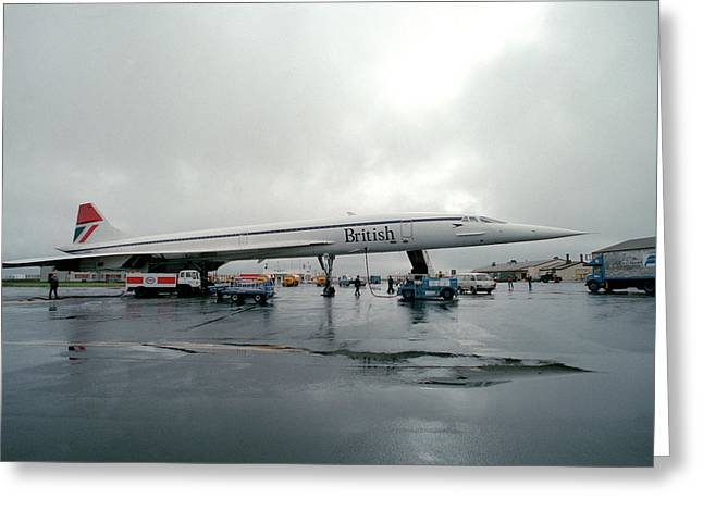 Concorde Refuelling Greeting Card by Us National Archives