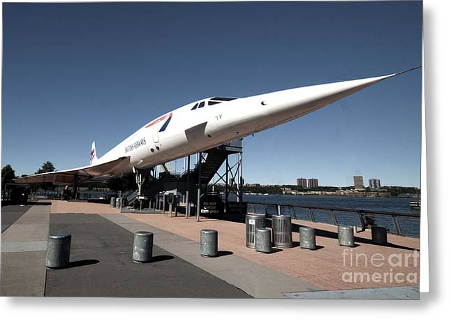 American Airways Greeting Cards - Concorde Greeting Card by Rob Hawkins