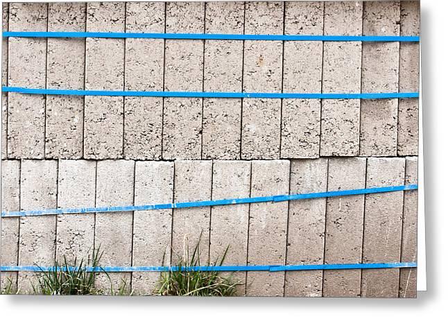 Concrete Blocks Greeting Card by Tom Gowanlock
