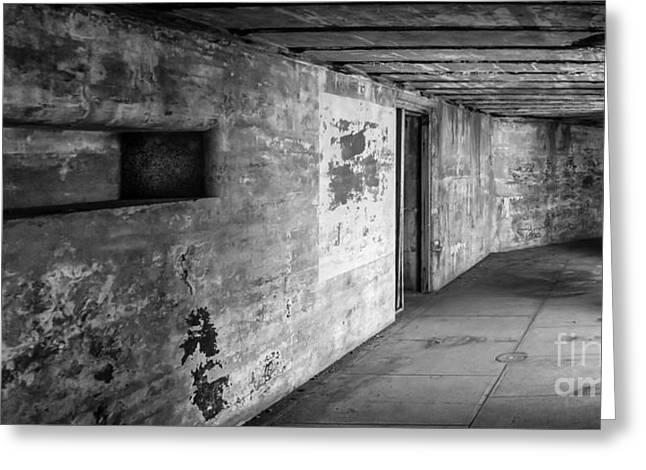 Fort Casey Greeting Cards - Concrete Passage Greeting Card by Ken Andersen