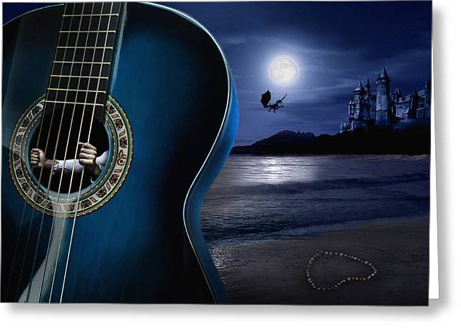 Moon Beach Greeting Cards - Condemned to dream Greeting Card by Alessandro Della Pietra